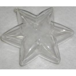 Bombka plastikowa dwuczęściowa - gwiazda
