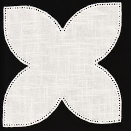 Serwetka do obrabiania szydełkiem Anchor w kształcie KWIAT LOTOSU kol. ECRU Art. 453101100926