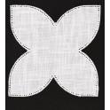 Serwetka do obrabiania szydełkiem Anchor w kształcie KWIAT LOTOSU kol. ECRU Art. 453101100001
