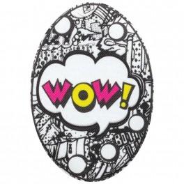 """łaty termoprzylepne drukowane """"WOW!"""" wym.13x90 nr. 062"""